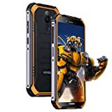Telephone Portable Incassable, DOOGEE S40 Lite Android 9,0 Ecran 5,5 Pouces Smartphone Etanche, 2GO+16GO Dual SIM 4650mAh Batteries, Caméra 8MP+5MP, Empreinte Digitale Face ID, Orange