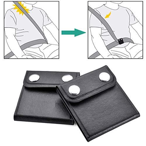 Ajustador de cinturón de seguridad - WENTS 2 paquete Clip de cinturón de...