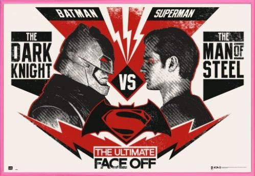 1art1® Batman Vs Superman Póster con Marco (Plástico) - The Ultimate Face Off (91 x 61cm)