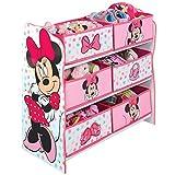 Minnie Mouse Hängefach-Bücherregal für Kinder – Büchergestell für Das Kinderzimmer, Holz, Rosa, 30 x 63.5 x 60 cm