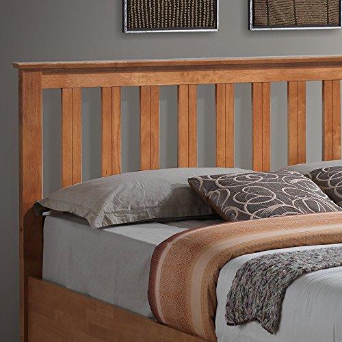 Happy Beds Phoenix Ottoman Bed Oak Finish Modern Pocket Sprung Mattress 5' King Size 150 x 200 cm