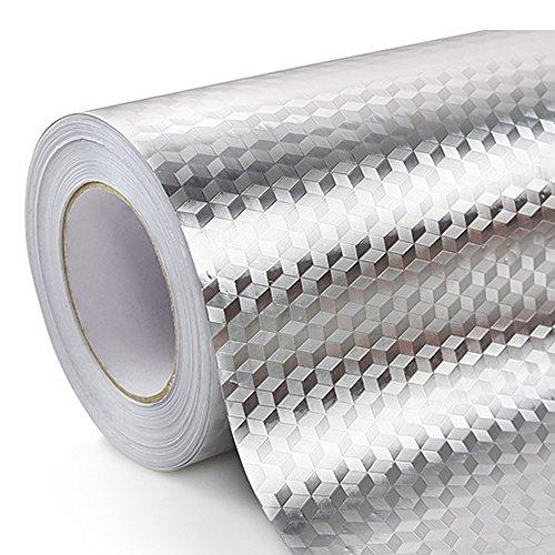Ya Jin Küche Öl Proof Wasserdicht Aufkleber Aluminium Folie Küche Herd Unterschrank Schublade Selbstklebende Tapete Rhombus - Tropf Herd