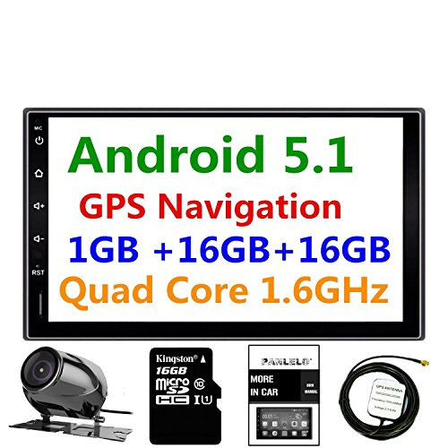 Panlelo® PA09YZ16, 17,8cm 2DIN unità Android 5.1navigazione GPS Car stereo audio radio 1080p video Player ARMv7Quad Core incorporato Wi-Fi Bluetooth AM/FM/RDS Steering Wheel Control