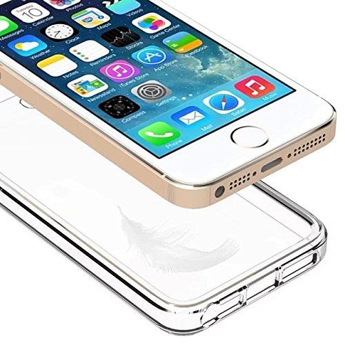 Apple iPhone 5SE Fall, IVSO TPU Bumper mit Crystal Clear PC Rückseite [Drop Schutz/Shock Absorption Technology] für Apple iPhone 5SE Handy,  - farblos, For iPhone 5SE - farblos