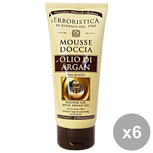 Lot de 6 plantes douche mousse Argan 200 ml. Les savons et cosmétiques