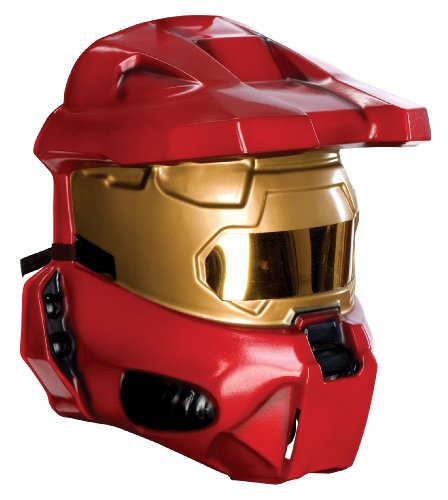 (Rubie's Costume Co Halo Universe Adult Spartan Half-Mask, Red, One Size)