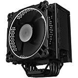 Jonsbo CR-201 Ventiladores CPU 4 Heatpipe Dual Ball Bearing 120mm Fan for INTEL LGA 775 / 115X and AMD 4PIN PWM (Blanco)
