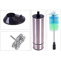 Batidora eléctrica de leche con cepillo de lavado de mano para cocina, batidor, espuma