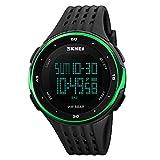 SKY SKMEI reloj deportivo cuarzo muñeca hombres analógico digital resistente al agua (Verde)