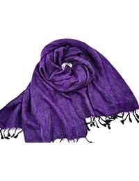 Schal/Stola, 100% Fairtrade-Yak-Baumwolle Gr. Einheitsgröße, Purple & Grey