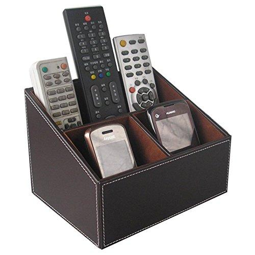 KINGFOM - Organizador de mando a distancia, color marrón