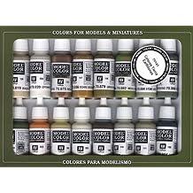 Vallejo Model Color Set - Set de pintura acrílica (16 unidades), multicolor