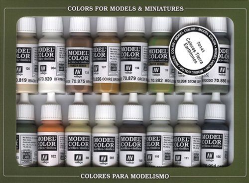 Vallejo Model Color Set - Earthtones (X16 Colours) - Val70141