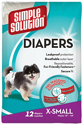 Artikelbild: Simple Solution Disposable Dog Diapers Nappies Medium-x Small