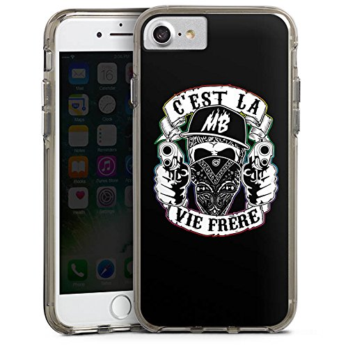 Apple iPhone X Silikon Hülle Case Schutzhülle Montanablack Fanartikel Merchandise C'EST LA VIE FRERE Bumper Case transparent grau