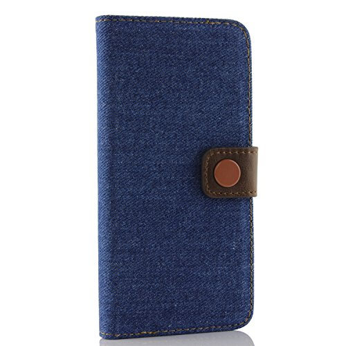Apple iPhone 6 Handyhülle von Original Urcover® in der Jeans Style Galaxy S6 Schutzhülle Case Cover Etui Blau Blau