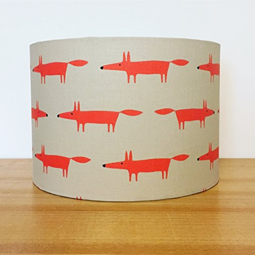 handmade-20cm-fabric-lampshade-featuring-little-fox-by-scion-uk-neutral-and-paprika-for-ceiling-pend