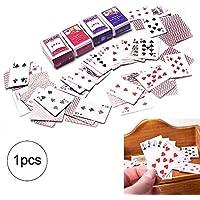 Wudi Tarjetas Documento 1 Juego Mini Juegos Poker Tarjetas 1/12 Mini Dollhouse Dollhouse Juguete decoración de los Accesorios