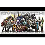 Overwatch 24x36 Inches Satin Material Game Poster For Office, Schools | Walls, Doors, Study Rooms, Bedrooms, Halls | Inspirational Motivational Quotes Signs-Sayings |Animes, Sports, Games, TV Series, Anime, Music | Matte Finish | High-Quality Imported Pre
