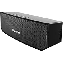 Bluedio BS-3 (Camel) Portabile Casse Bluetooth Diffusore Altoparlante Revolution 3D Neodymium Magnets/52mm Ultra-big Drive Units/Rich Bass Wireless Soundbar/Excellent 3D Surround System Retail-Gift Packgage (Nero)