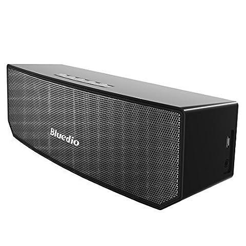 Bluedio BS-3 (Chameau) Enceinte Bluetooth Portable 3D audio Aimants en Néodyme Révolutionnaire/ 52mm. du Drive/ Enceinte sans fil avec la basse riche/ 3D stéréo surround scène Excellente Emballage détaillant de cadeau (Noir)