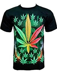 Rock Chang T-Shirt * Weed * Chanvre * Herbe * Noir R706