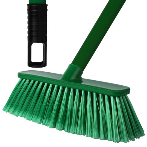 2-pack-of-28cm-green-soft-deluxe-floor-sweeping-brush-brooms-with-120cm-handle-comes-with-tch-anti-b