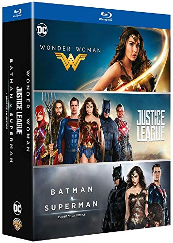 DC Universe - Coffret 3 films : Justice League + Wonder Woman + Batman v Superman : L'aube de la justice [Francia] [Blu-ray]