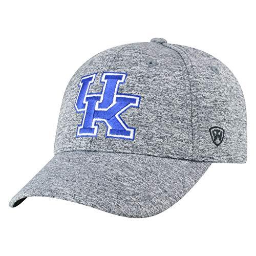 Top of the World NCAA Kentucky Wildcats Men's Adjustable Steam Charcoal Icon Hat, Grey