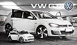 VW GOLF GTI VOLKSWAGEN KINDERAUTO ELEKTROAUTO KINDERFAHRZEUG ELEKTRO Weiß NEU