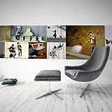 murando Deko Panel XXL 200x50 cm Vlies Tapete Poster Panoramabilder Riesen Wandbilder Dekoration Design Fototapete Wandtapete Wanddeko Wandposter Banksy 11050905-25