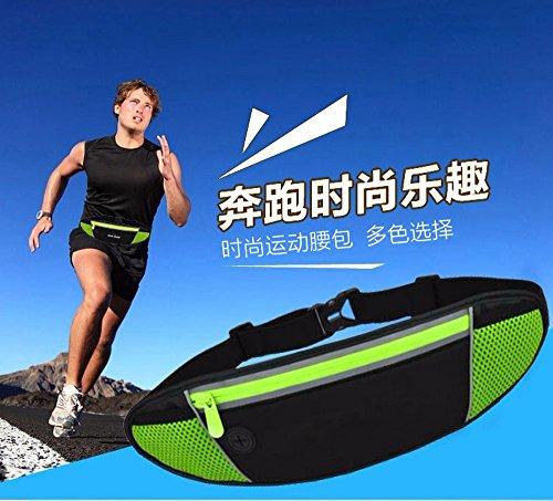 Sport All'Aria Aperta, Borsa, Running, Fitness, Borsa Del Telefono Cellulare Personale, Blu Black
