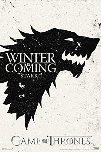 """Póster """"Game of Thrones"""" (Juego de Tronos) Se acerca el invierno (Sta"""