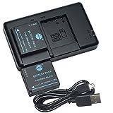 DSTE 2PCS DMW-BLG10(1500mAh/7.4V) Batterie Chargeur Kit pour Panasonic Lumix DMC-GX85,DMC-LX100,DMC-TZ80,DMC-TZ81,DMC-TZ100,DMC-TZ101 comme DMW-BLE9,DMW-BLE9GK,DMW-BLE9PP,DMW-BLG10E,DMW-BLG10PP