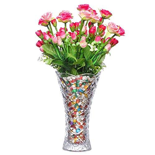 PRAX Decorative Large Crystal Touch Flower Vase