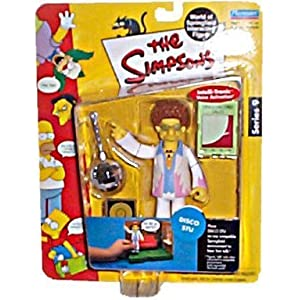 The Simpsons Disco Stu Action Figure by Playmates 3