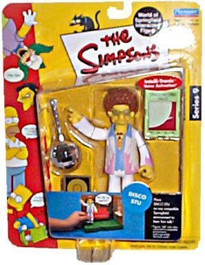 The Simpsons Disco Stu Action Figure by Playmates 1