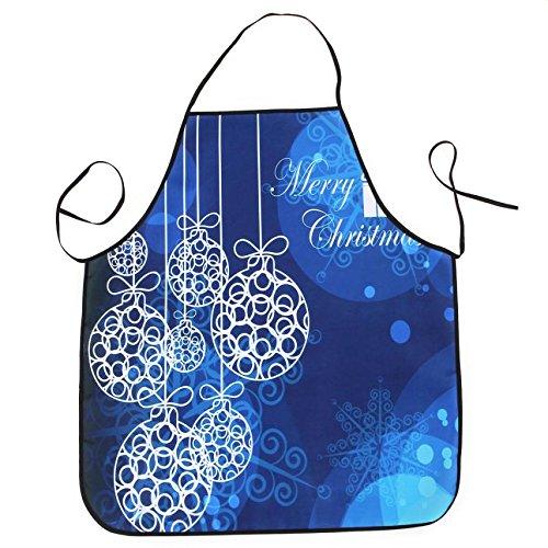 Lqchl 1Pcs 70*80Cm Décoration De Noël Tablier Imperméable En Polyester Pour Le Dîner De Noël Cuisine Tablier Partie Décoration D,E