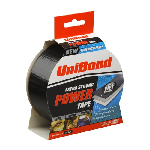 UniBond Extra Strong Power Tape - 50 mm x 25 m, Black
