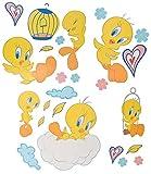 Unbekannt 25 TLG. Set XL Wandtattoo Looney Tunes Baby - Wandsticker Vogel Tweety / Babymotiv Babys Aufkleber Wandaufkleber - selbstklebend für Wohnzimmer und Kinderzimm..