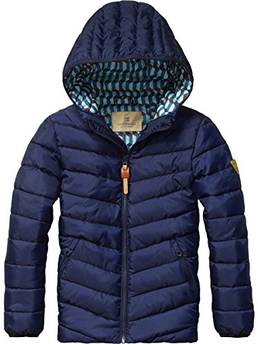 Scotch Shrunk Basic Padded Nylon Jacket with Hood, Giacca Bambino, Blau (Navy 004), 152