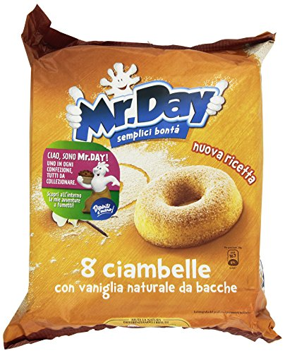 Mister day 3X Vicenzi Mr. Day Ciambelle Italian Donuts with Real Vanilla Pod 300g