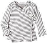Lana Natural Wear Unisex - Baby T-Shirt Wickelshirt Finn, Gestreift, Gr. 50/56, Mehrfarbig (Graumelange/Natur 197)