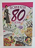 Weiblich Alter 8080. Jahr Sie geboren wurden, in 1938Geburtstag Karte