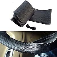 Housse de protection en cuir synthétique pour volant de voiture - À coudre à la main soi-même - Style enveloppant