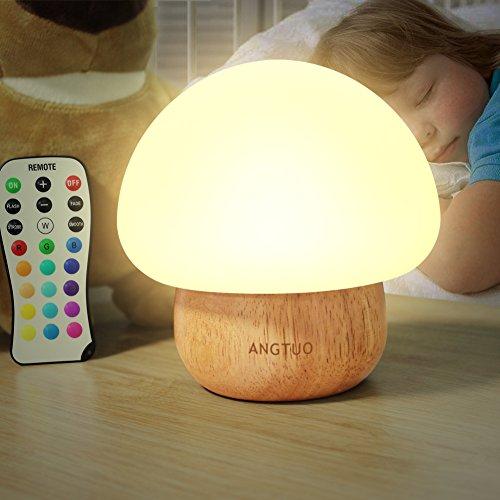 LED-Nachtlicht, SUNNIOR Kinder Nachtlicht Tragbare Silikon Cute Mushroom Baby Still-Lampe Nacht Atmosphäre Lampe für Schlafzimmer und Wohnzimmer - Ein perfektes Geschenk für Kinder