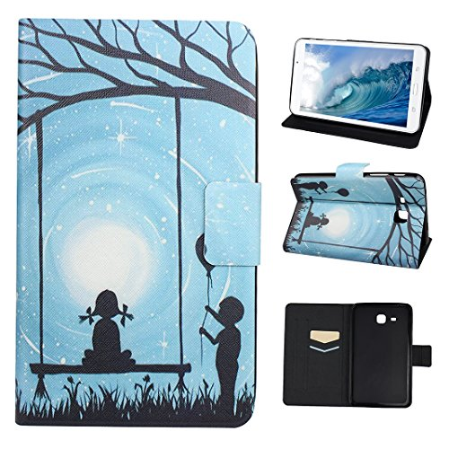 Galaxy Tab A 7.0 T280 Tablette Flip Cas, Asnlove Coque Tablette PU Cuir Housse Fente pour Carte Fermoir Magnétique Support Flip Étui Protection Smart Cover Case Protection Housse Étui Protection Pochette pour Samsung Galaxy Tab A 7.0 (SM-T280/SM-T285)