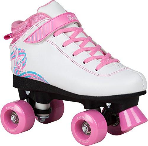 Rookie Rhythm Patines, Mujer, White/Pink, 33