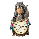 AIKE Americano Creatividad Sencillo Moderno Personalidad Silencio Lobo Reloj de Pared...