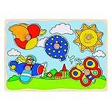 Goki 57859 - Steckpuzzle - Luftballon, Sonne,